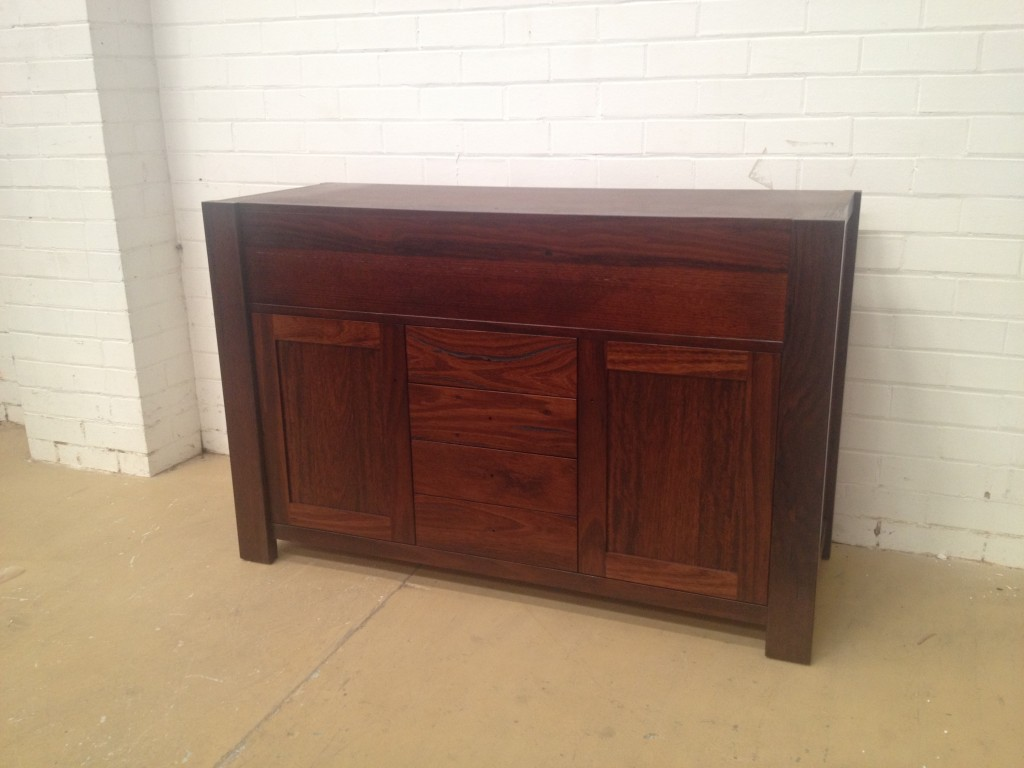 Custom made timber vanity unit made to specifications