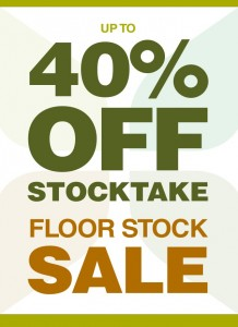 Stocktake sale 2013