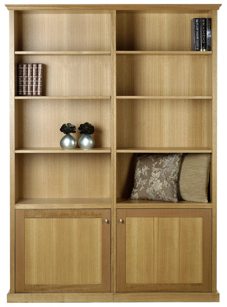 bookcases, aria 2pce 400deep bookcase 2 door
