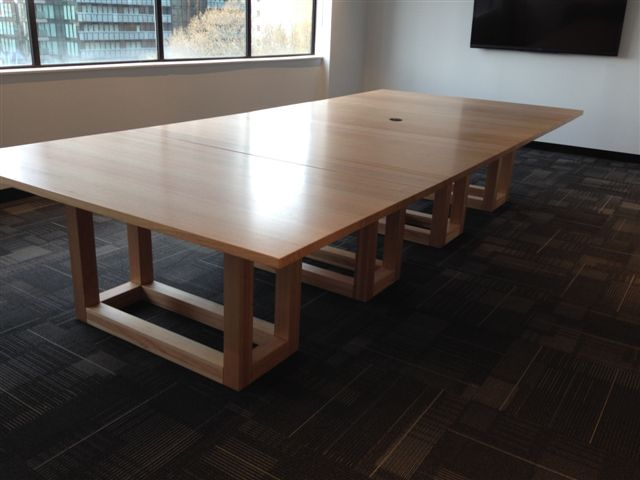 Modern style solid Victorian Ash Boardroom table Made to Order